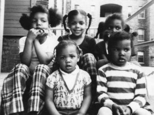 Melonie Powell (front) and four older sisters moved to the suburbs of Minneapolis.Courtesy of Melonie Powell
